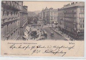 69142 Ak Wien Schottengasse und Währingerstrasse 1904