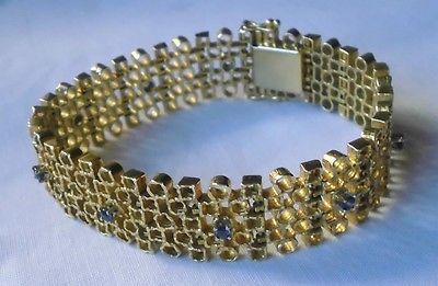 Sensationelles Armband 750er Gold mit blauen Edelsteinen (111449)