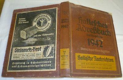 Hallesches Adreßbuch mit Umgebung fuer das Jahr 1942