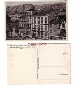 80049 Ak Bad Blankenburg Hotel Goldener Löwe um 1930
