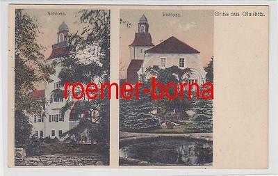 76225 Mehrbild Ak Gruß aus Glaubitz Schlossansichten usw. um 1930