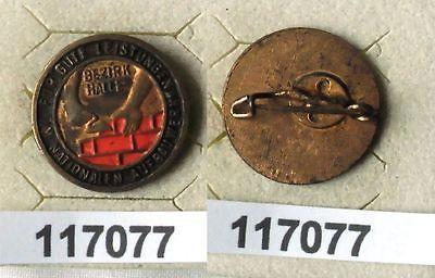 Lackierte DDR Aufbaunadel Bezirk Halle in Bronze (117077)