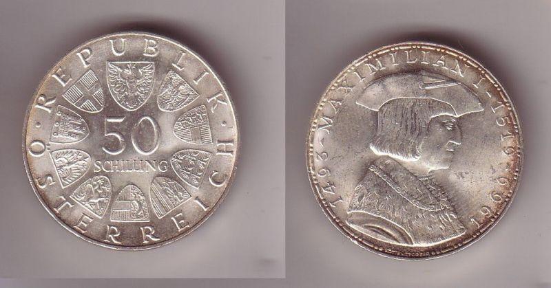 50 Schilling Silber Münze österreich Maximilian 1493 1519 1969