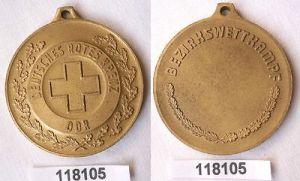 Seltene DDR Medaille DRK Bezirkswettkampf in Gold (118105)