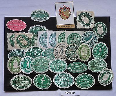 32 alte Vignetten Nassau, Naundorf, Kleinschirma usw. um 1900 (101862)
