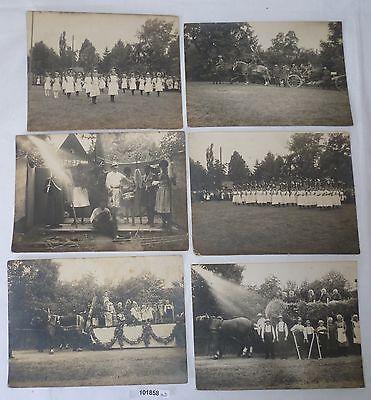 101858 13 Original Fotos Heimatfest Arras bei Geringswalde Fachwerkhaus 1926