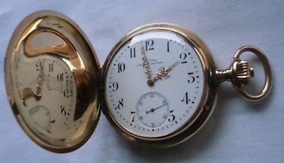 Goldene Taschenuhr J.Assmann Glashütte 585er Gold um 1900 (113034)