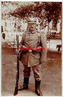 79771 Foto Ak feldgrauer Soldat Infanterie Regiment 27, 1.Weltkrieg