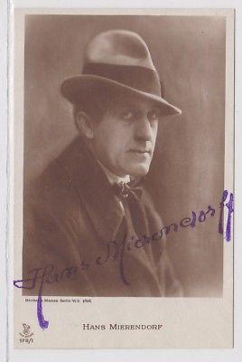 41758 Autograph Karte Deutscher Schauspieler Hans Mierendorf um 1939