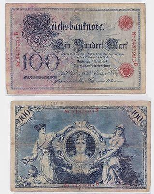 100 Mark Banknote Kaiserreich Deutsches Reich 17.04.1903 (117334)