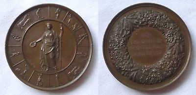 Alte Bronze Medaille für landwirtschaftliche Leistungen um 1900 (108904)