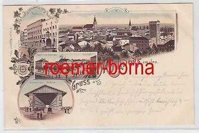 69057 Ak Lithografie Gruss aus Mühldorf am Inn 1898