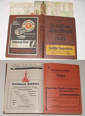 Adressbuch der Stadt Halle mit Umgebung von 1943 (Bü1593)