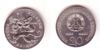 Ddr Gedenk Münze 20 Mark Gebrüder Grimm 1986 Nr 332439435728