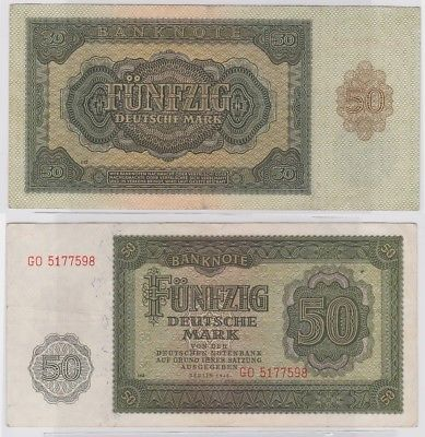 50 Mark Banknote DDR Deutsche Notenbank 1948 (122342)