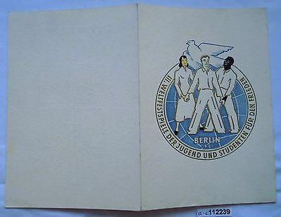 Klappkarte Weltfestspiele der Jugend und Studenten Berlin 1951 (112239)