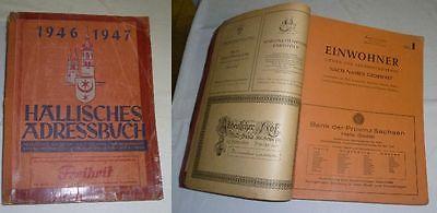 Hallisches Adressbuch 1946 1947