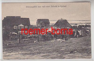 77987 Ak Stimmungsbild kurz nach einer Schlacht in Kurland um 1915