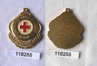 Seltene DDR Plakette DRK Junger Rettungsschwimmer in Gold (118255)