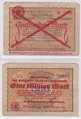 1 Million Mark Banknote Freistaat Mecklenburg Schwerin 10.8.1923 (121933)