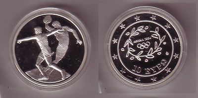 10 Euro Silber Münze Griechenland Olympiade Diskuswerfer 2004 Pp