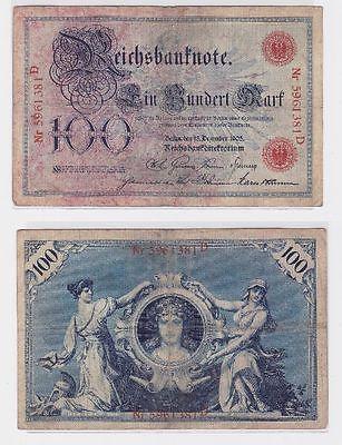 100 Mark Banknote Kaiserreich Deutsches Reich 18.12.1905 (117665)