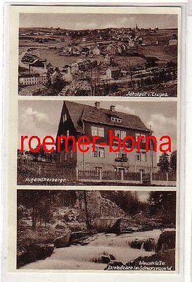 78686 Mehrbild Ak Jöhstadt i.Erzgeb. Jugendherberge, Wasserfall um 1930