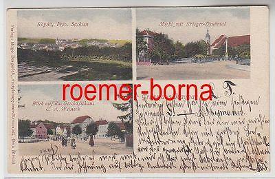 75800 Mehrbild Ak Gruss aus Kayna Prov. Sachsen Geschäftshaus usw. 1904