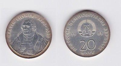 Ddr Gedenk Münze 20 Mark Martin Luther 1983 119879 Nr