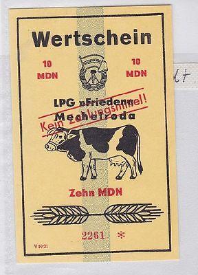 10 Mark Banknote DDR LPG Geld Mechelroda