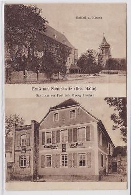 84173 Mehrbild Ak Gruß aus Schochwitz (Bez.Halle) Gasthaus zur Post 1931