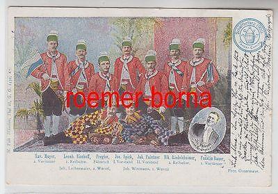 61293 Ak München Schäfflertanz 1900 Tänzer Comitee