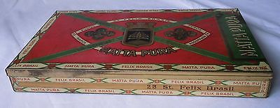 Seltene Blechdose Zigarettenfabrik La Coruna Matta Pura um 1930 (113675)