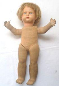 Seltene alte Kloetzer Puppe Sonneberg Groesse 28 cm