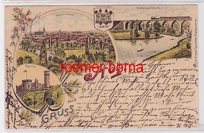 84008 Ak Lithografie Gruss aus Hof in Bayern 1897