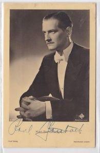 66335 Autograph Karte Deutscher Schauspieler Karl Schönböck um 1935