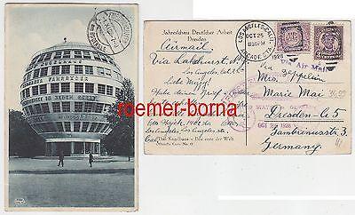 68304 Zepplinflug Ak USA nach Dresden Jahresschau Deutscher Arbeit 1928