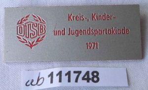 DDR Abzeichen DTSB Kinder- und Jugendspartakiade 1971 (111748)