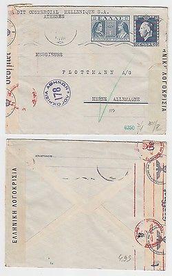 67973 seltener Zensur Post Brief von Griechenland nach Herne in Westf. 1940