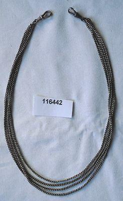 Lange silberfarbene Uhrkette für Damen Taschenuhr Länge 140 cm (116442)