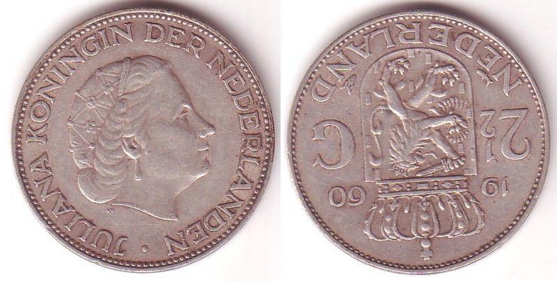 2 12 Gulden Silber Münze Niederlande 1960 115234 Nr 232589108586