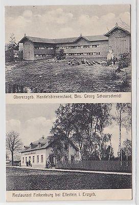 70372 Ak Restaurant Finkenburg bei Elterlein, Obererzgeb.Handelsbienenstand 1914