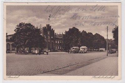 90249 Ak Stendal Reichsbahnhof 1930