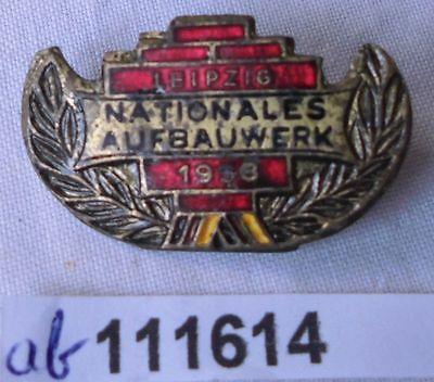 DDR Abzeichen Nationales Aufbauwerk Leipzig 1958 Gold (111614)