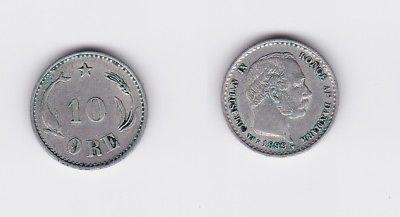 10 Öre Silber Münze Dänemark 1899 (118390)