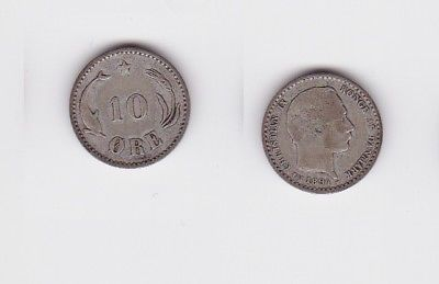 10 Öre Silber Münze Dänemark 1894 (122950)