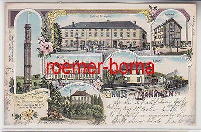 75807 Ak Lithografie Gruss aus Böhringen i.S. Gasthof, Bahnhof usw. 1902