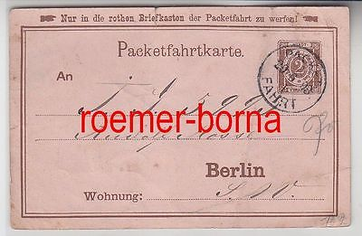 75849 alte Ganzsachen Packetfahrtkarte Berlin 1893