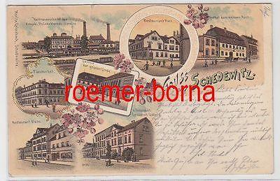83144 Ak Lithographie Gruß aus Schedewitz Gasthof usw. 1908