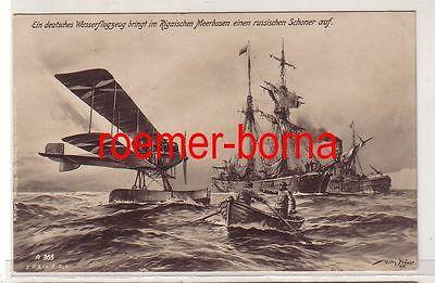 80986 Ak Ein deutsches Wasserflugzeug im rigaischen Meerbusen 1915